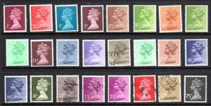 Gret Britain 24 Different Mixed lot Mint & Used CV $25