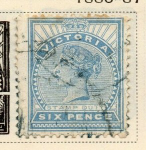 Victoria 1886-87 Early Issue Fine Used 6d. 326780