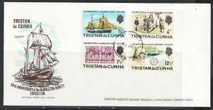 Tristan da Cunha, Scott cat. 153-156. Expedition with Scout. First day cover. ^