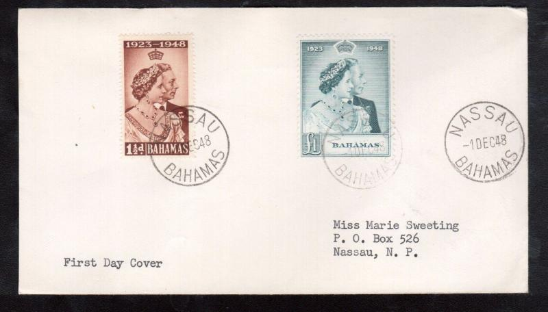 Bahamas #148 - #149 Very Fine Used On First Day Cover