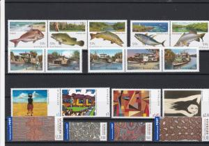 Australia Fish Boats + other Stamps Mint Never Hinged Stamps ref 22068