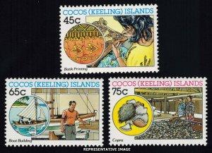Cocos Islands Scott 166-168 Mint never hinged.