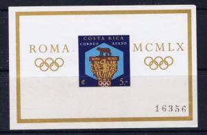 Costa Rica C313 MNH 1960 Olympics S/S