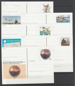 Germany, Mi PSo 16/30 mint. 1988-93 Sonderpostkarte, 11 dif Special Postal Cards