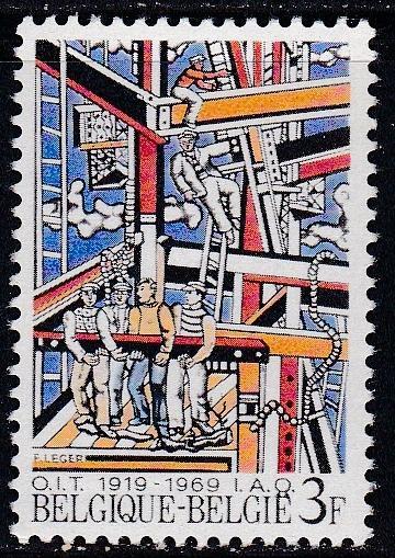 Belgium # 721, Construction Workers, NH