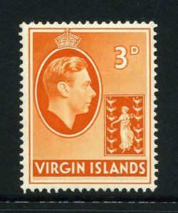 Virgin Islands 1938 KGVI 3d chalk paper SG 115 mint