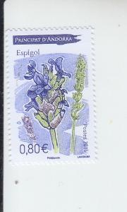 2016 Fr Andorra Lavender  (Scott 766) MNH