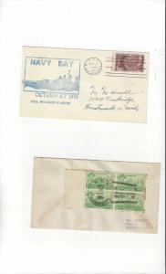 US Navy Covers USS Mississippi AG 128