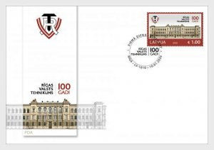 H01 Latvia 2020  Centenary of Riga State Technical School FDC