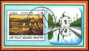 Cuba. 1989. bl113. Philatelic exhibition. USED.