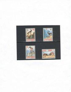 ETHIOPIA: 1303-06   / ** Beautiful WWF-NUBIAN IBEX **  / Set of 4-MNH.