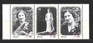 Nevis. 1990. 548-50. queen mother. MNH.
