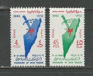 Kuwait Scott catalogue # 281-282 Unused Hinged