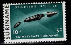 Suriname Scott B101 MH* 1964 semi-postal space stamp