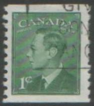 Canada 1950 1c coil stamp SG419 used