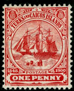 TURKS AND CAICOS ISLANDS SG111, 1d red, LH MINT. Cat £19.