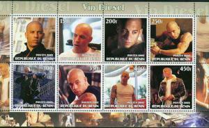 Vin Diesel on Stamps - 8 Stamp  Sheet  - 7320