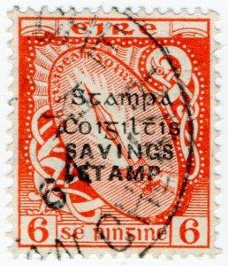 (I.B) Ireland Revenue : Savings Stamp 6d