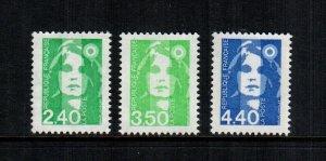 France  2334 2336 2338 MNH $ 5.00