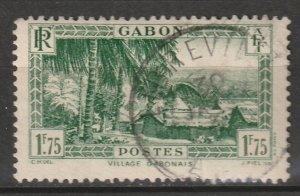 Gabon 1933 Sc 142 used Libreville CDS
