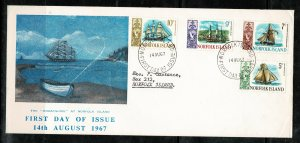 NEW ZEALAND QEII 1967 F.D.C. OFFICIAL COVER IN GOOD CONDITION SG81-84