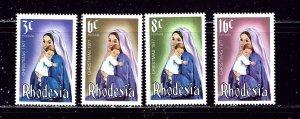 Rhodesia 387-90 MNH 1977 Christmas