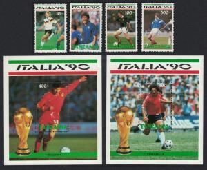 Tanzania World Cup Football Championship Italy 4v+ 2 MSs SG#744-MS748