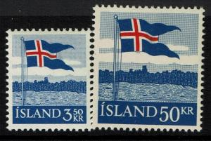 Iceland SC# 313 and 314, Mint Never Hinged - Lot 041717