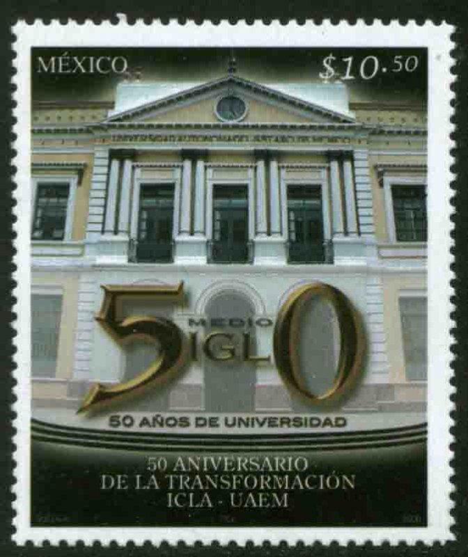 MEXICO 2531, SCIENTIFIC & LITERARY INSTITUTE, 50th ANNIVERSARY. MINT, NH. F-VF.