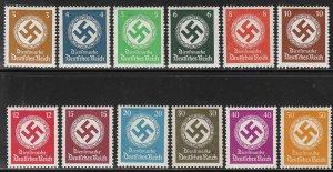 Stamp Germany Official Mi 132-43 Sc O80-91 1934 WWII War Era War Era MNG
