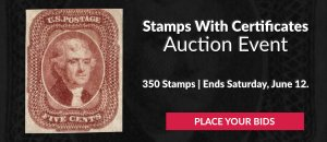 The 7th Stamps With Certificates Auction