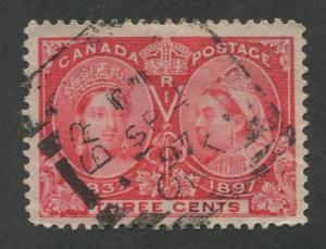 CANADA #53 USED JUBILEE SQUARED CIRCLE CANCEL BRANTFORD