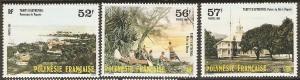 1986 Fr. Polynesia Scott 433-435 Old Tahiti MNH