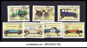 KOREA - 1986 60th ANNIVERSARY OF MERCEDES-BENZ / VINTAGE CARS - 7V - USED