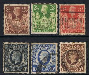 UNITED KINGDOM 1939 - 42 KING GEORGE VI & ROYAL ARMS