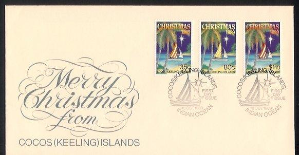 Cocos Is - 1989 Christmas (FDC)