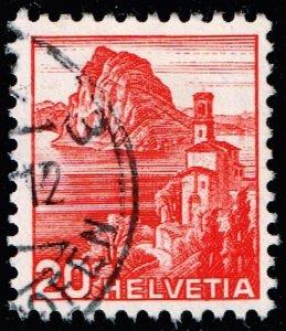 Switzerland Stamp 1936 Landscapes 20C DOUBLE IMPRESSION ERROR $600
