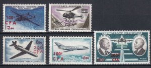 French Reunion 1961-64, Airmail ,YVERT N°58/62, VF MNH**OG (OLG-8)