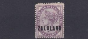 ZULULAND  1888 - 93  S G  2  1D  DEEP  PURPLE     UNUSED NO GUM