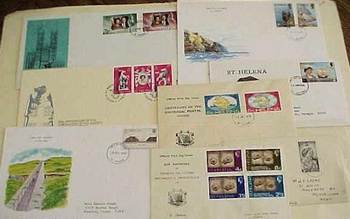 ST. HELENA 8 DIFF. FDC 1948-1992 CACHET ADDRESSED