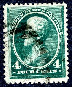 US #211 1883 4c Jackson. Used VF