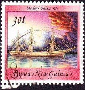 PAPUA NEW GUINEA 1988 QEII 30t Multicoloured Ships SG549 FU