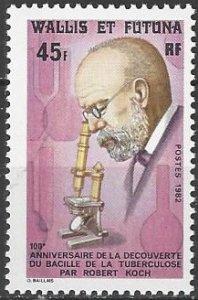 Wallis and Futuna Islands  278   MNH  Dr. Robert Koch TB Bacillus