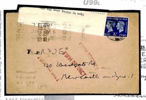 U99L WW2 GPO Official Northumberland Firm Defunct 1940 Cover {samwells}