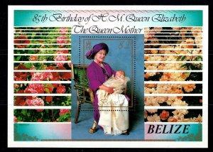BELIZE - 1985 - QUEEN MOTHER ELIZABETH - 85th BIRTHDAY - MINT - MNH S/SHEET!