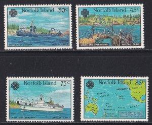 Norfolk Island, # 319-322, World Communication Year, NH, 1/2 Cat.