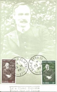 Maximum Card EIRE 1968 Commemorating Centenary Birth Of James Connolly U3789