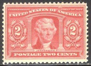 U.S. #324 Mint NH VF/XF - 1904 2c Louisiana