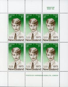 New Zealand #B87a 3c+1c Prince Edward / Green Background ~ (7797)