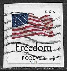 US ~ Scott # 4639 ~ Used on paper ~ Flag ~ PNC S1111